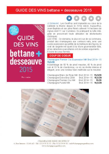 GUIDE DES VINS BETANNE 2015