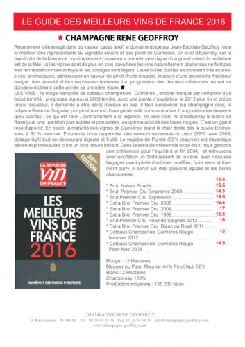 MEILLEURS VINS DE FRANCE 2016