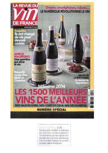 REVUE DES VINS DE FRANCE  JUIN 2015